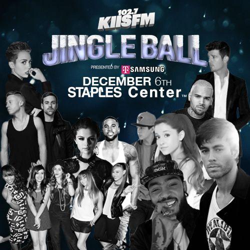 KIIS FM Jingle Ball 2013 is going down on December 6th at STAPLES Center!