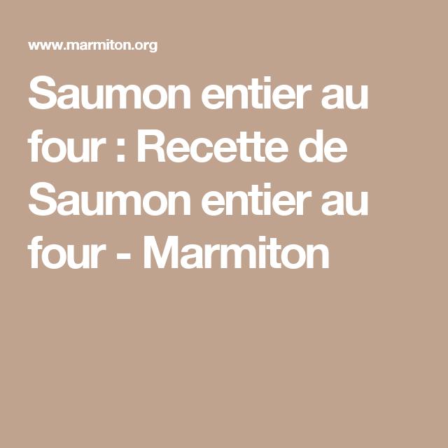 Saumon Entier Au Four Recette Saumon Thon Pinterest