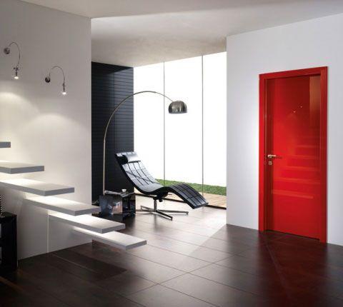 モダンなイタリア製木製ドア 塗装室内ドア リビングドア イタリア製