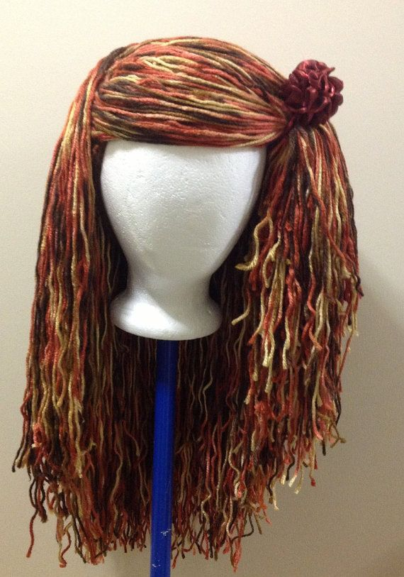 Handmade Crochet Halloween wig costume PATTERN in PDF tutorial file ...