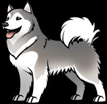 Alaskan Malamute Cartoon Drawings Dog Paintings Cute Drawings