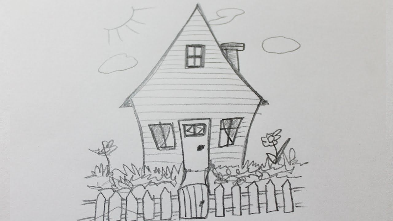 Comment dessiner une maison facile  Maison dessin, Dessin simple