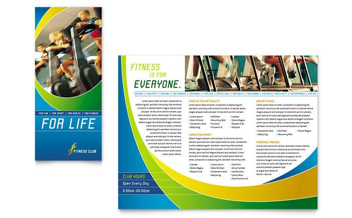 25 Really Beautiful Brochure Designs \ Templates For Inspiration - gym brochure templates