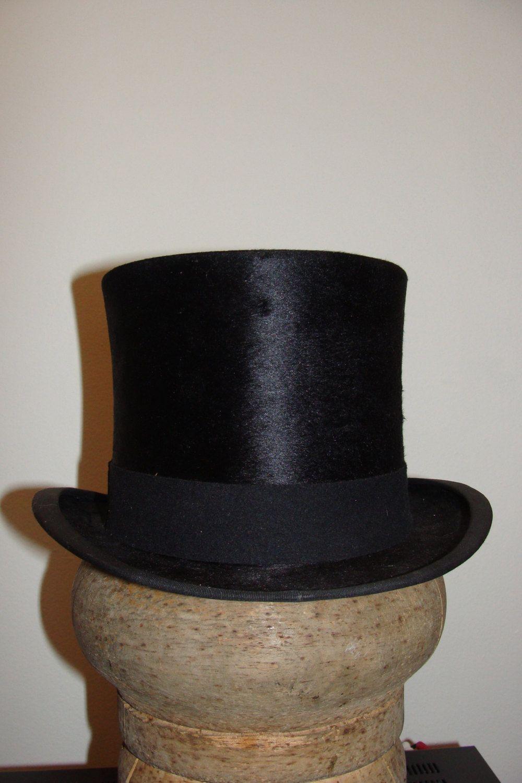 37efdac3d1f G.A.Dunn London Edwardian Era Black Silk Top Hat Stove Pipe Steampunk 6 5 8  US by Bungalowbob on Etsy