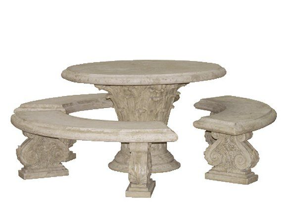Roman stone effect garden furniture console tables for Table transparente
