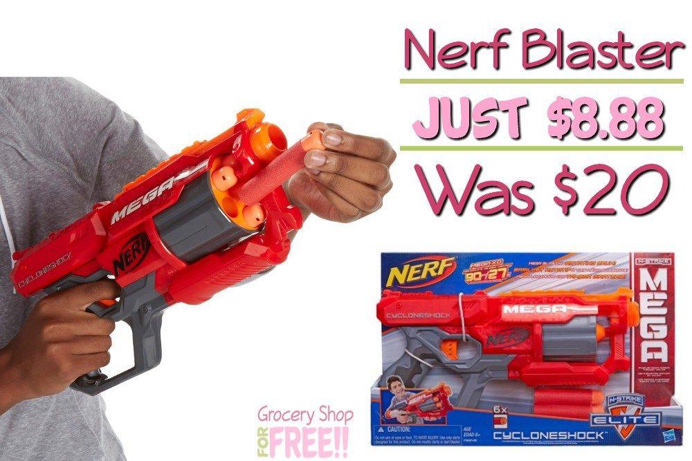 Nerf CycloneShock Blaster Just $8.88! Was $20! http://feeds.feedblitz