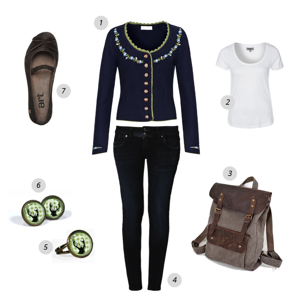 oktoberfest outfit jeans trachten strickjacke als. Black Bedroom Furniture Sets. Home Design Ideas