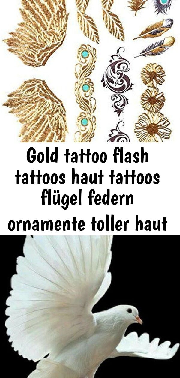 Gold tattoo flash tattoos haut tattoos flügel federn ornamente toller haut schm  2 GOLD Tattoo Flash Tattoos Haut Tattoos Flügel Federn Ornamente toller Haut Sc...