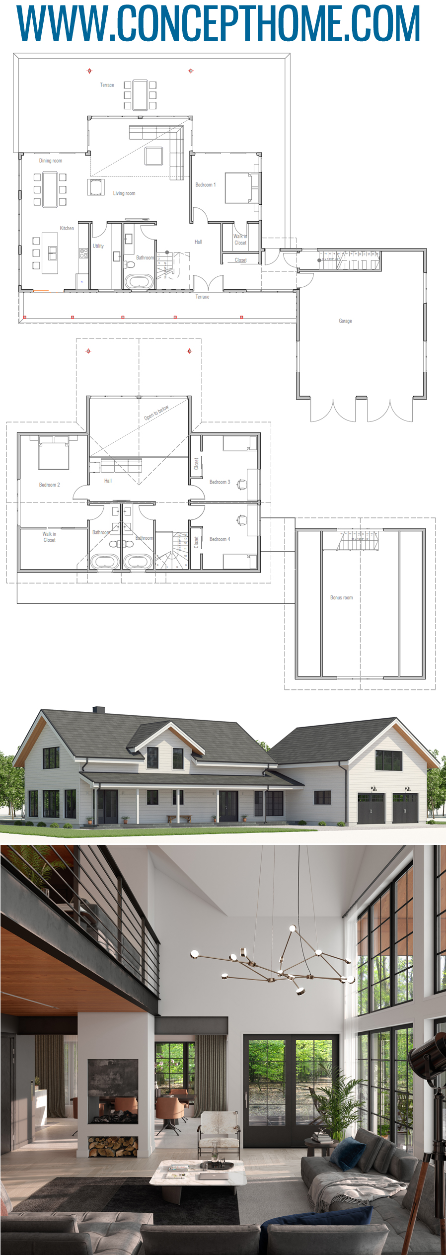 Floor Plan Ch547 Architectural Design House Plans Building A House Small House Plans