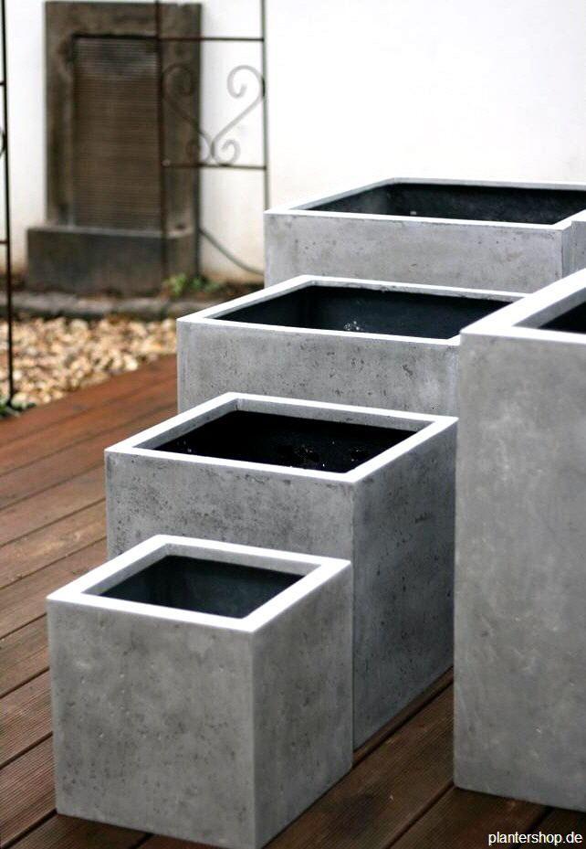 pflanzk bel blumenk bel pflanzgef sse in beton oder sandsteinoptik im haus dies und das. Black Bedroom Furniture Sets. Home Design Ideas