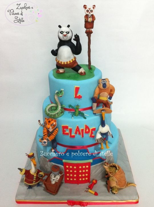 Kung Fu Panda Cake Cakes And Cupcakes For Kids Birthday Party