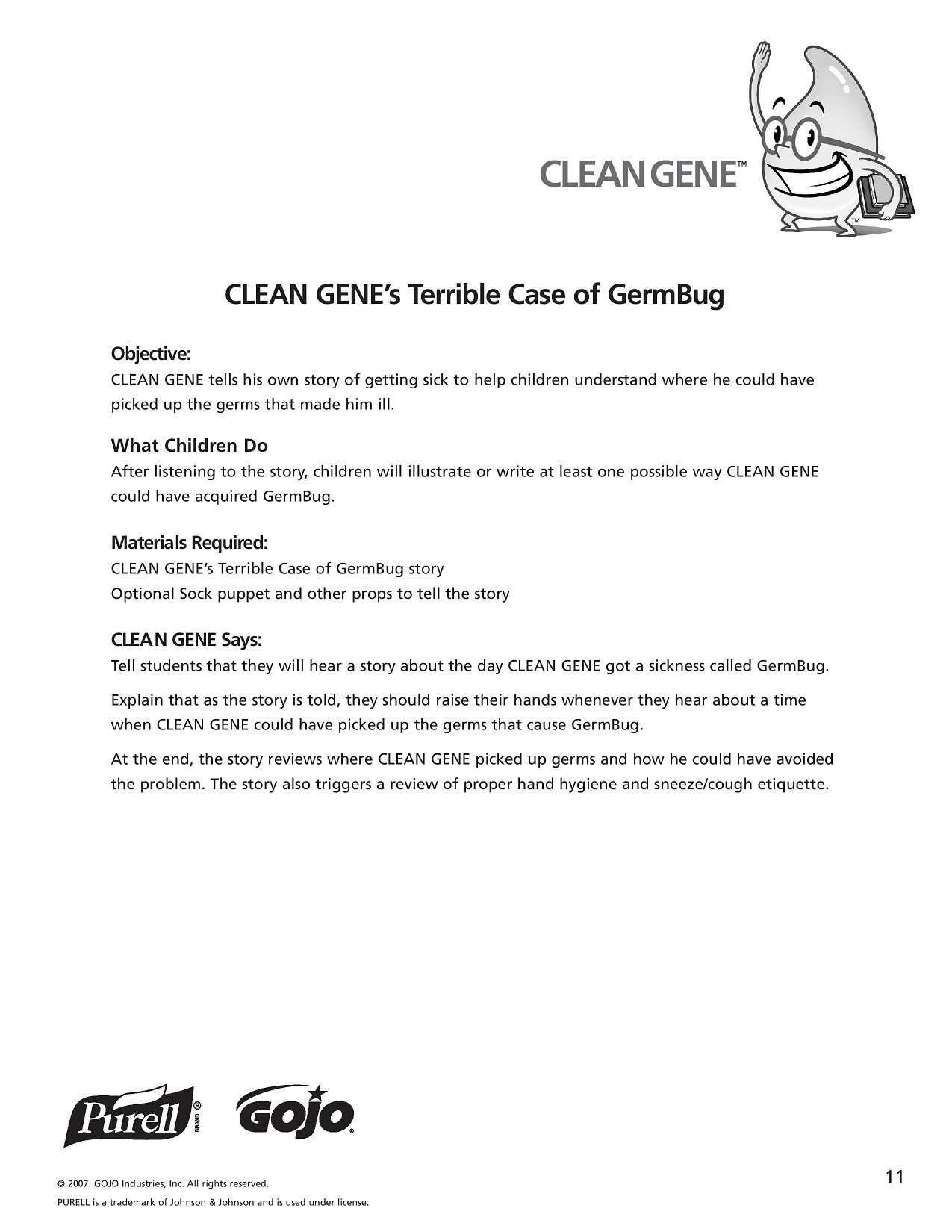 K 5 Hand Hygiene Lesson Plans And Worksheets Lesson 11 Page 1