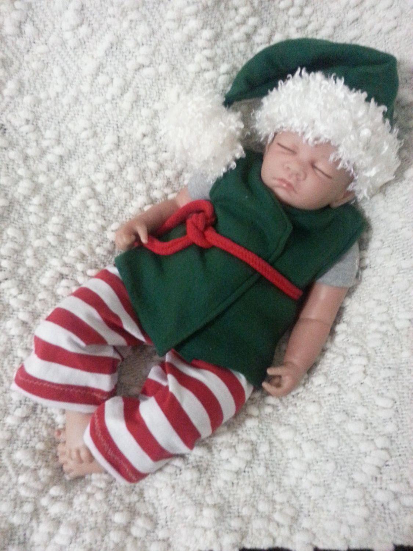 193ef1113e Christmas Newborn boy Elf outfit Santa s by PreciousBabyClothes ...