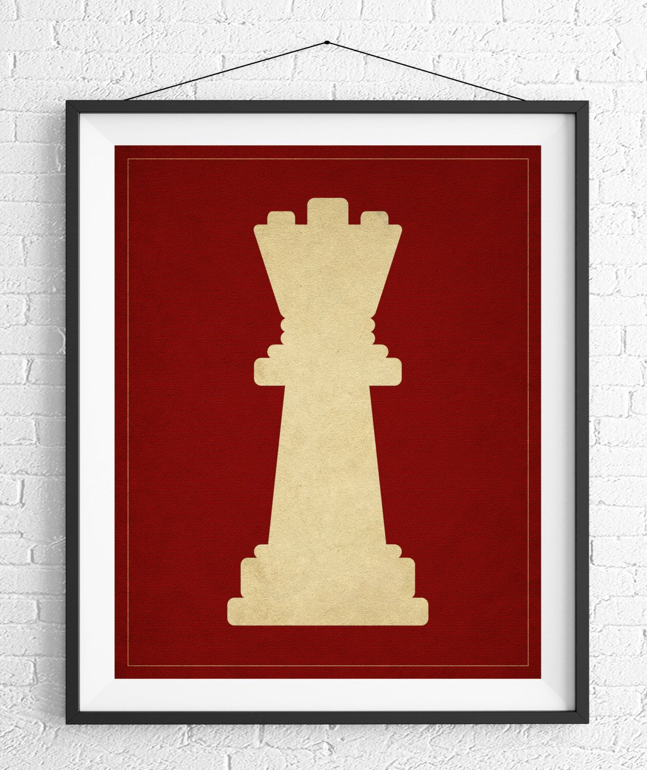 Game Room Wall Decor Chess Art Queen Chess Piece Print Board Game Art Game Room Wall