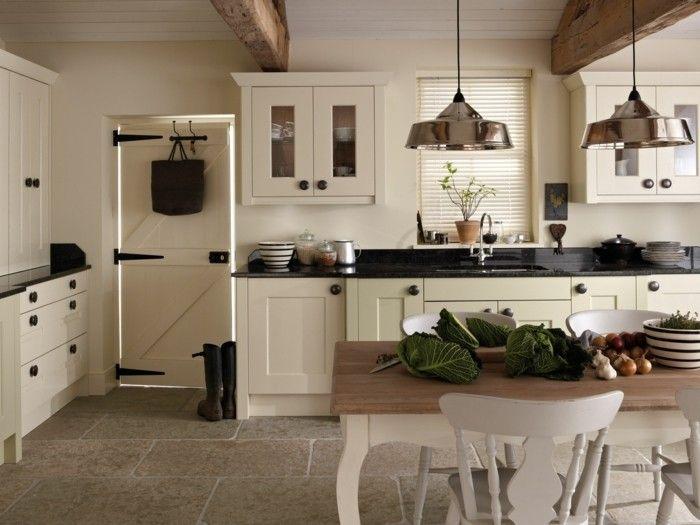 Küchenmöbel Streichen ~ Küche streichen bodenfliesen landhausstil gemütlich farben