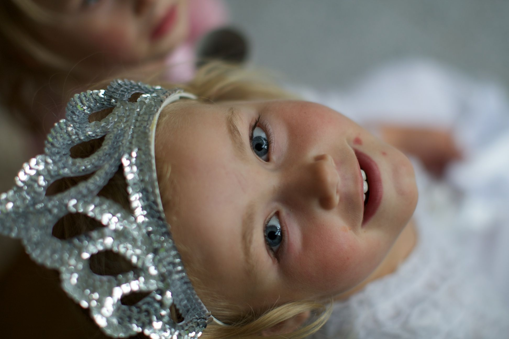 Be a princess for a day. My crowned daughter Charlotte - visibly happy