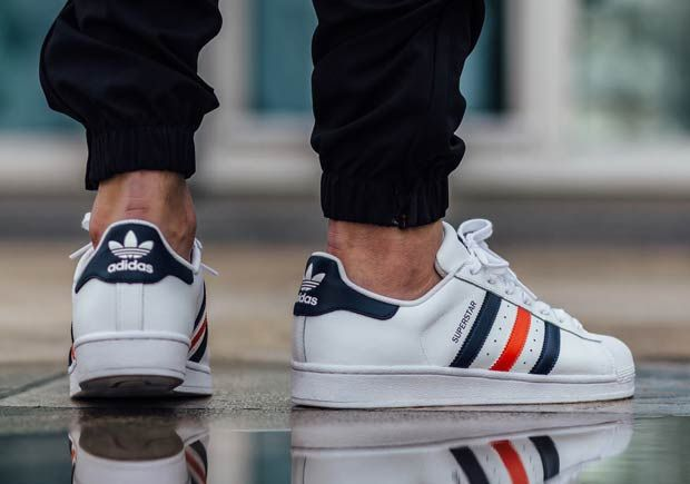 French Stripes On The adidas Superstar Foundation | Footwear