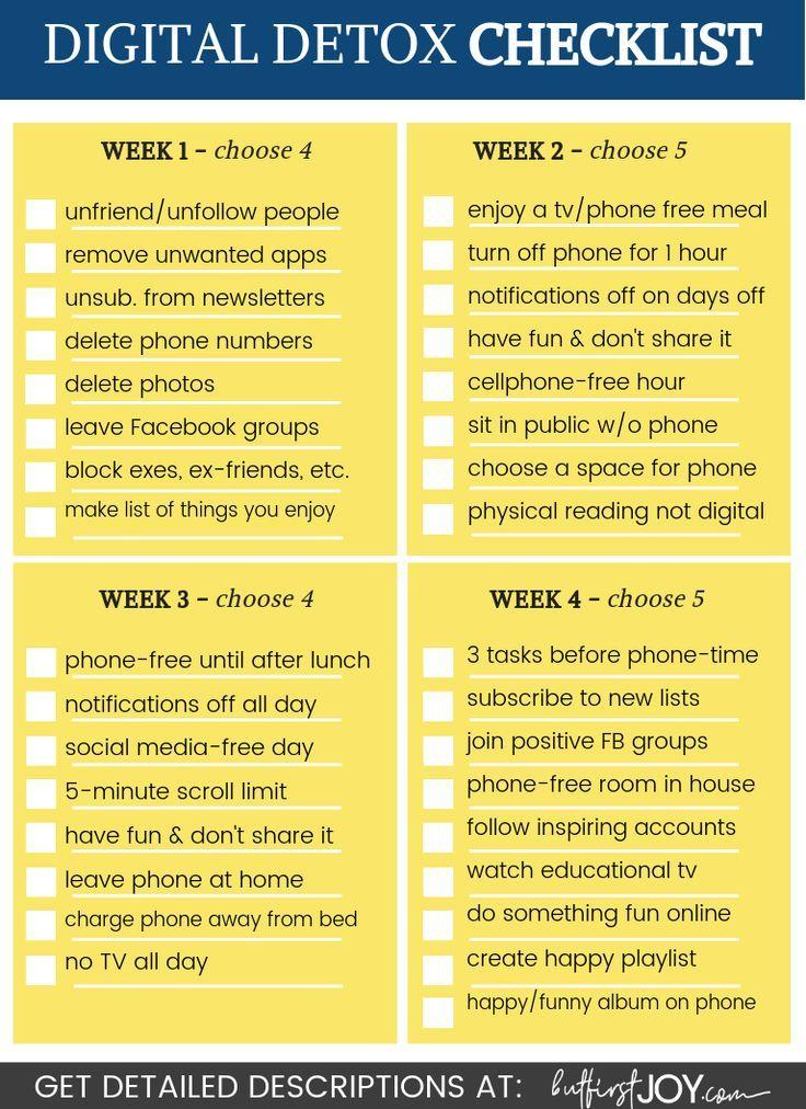 Digital Detox Challenge 4 Weeks of Effective Tasks (Free