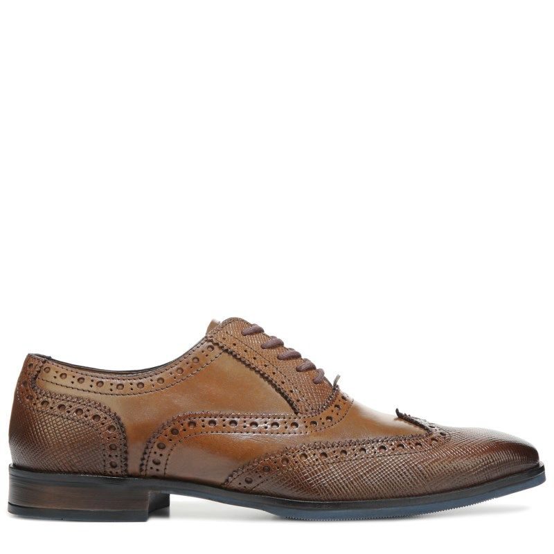 Giorgio Brutini Men's Rigby Wing Tip Oxford Shoes (Tan Leather)