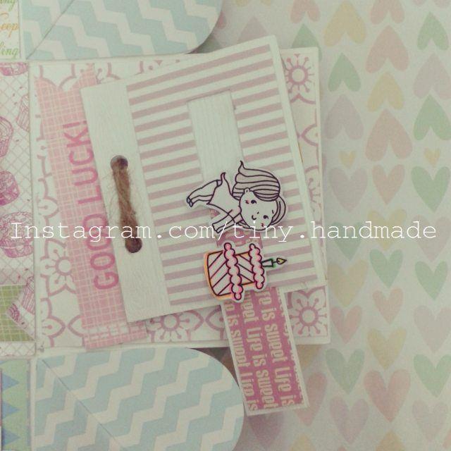 #MiniAlbum để dán ảnh 5x5  kéo icon thổi nến sinh nhật by tiny.handmade