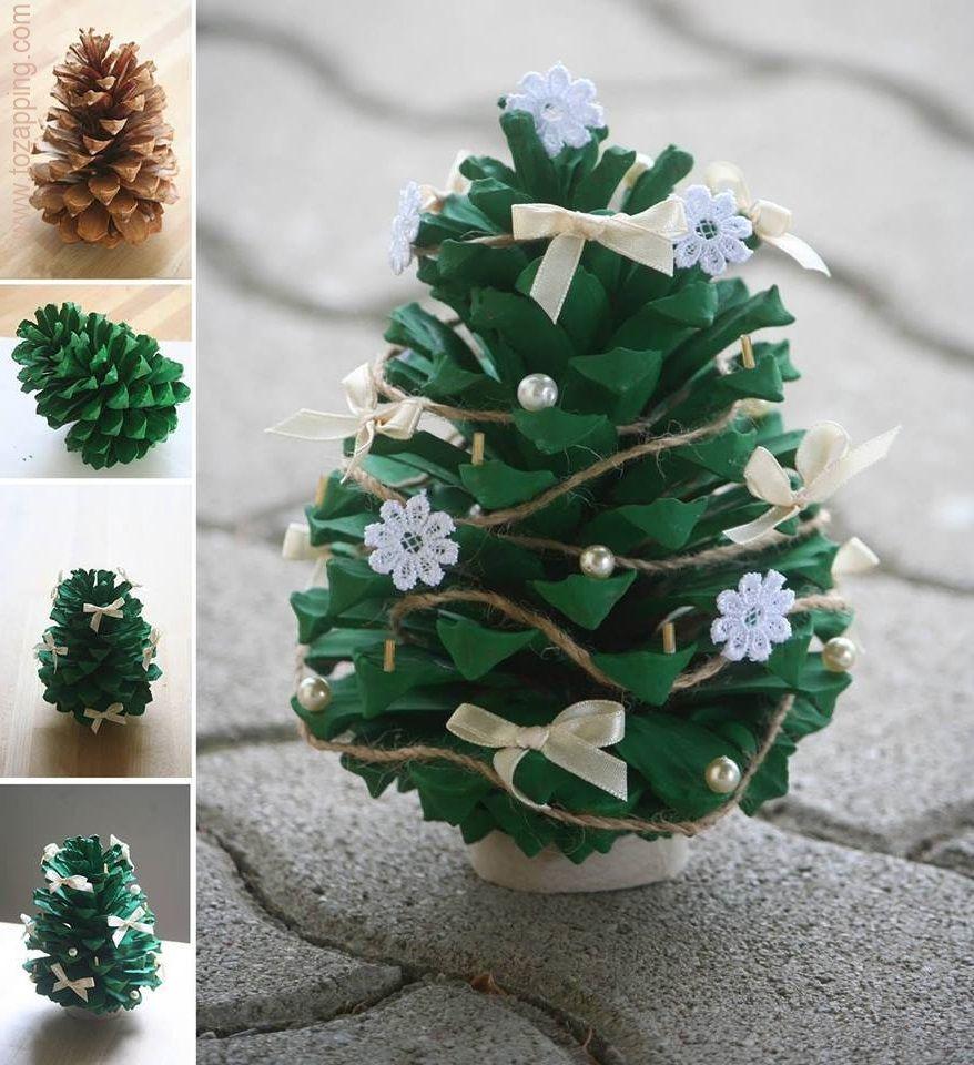 C mo hacer un rbol de navidad de pi a navidad - Arbol de pina ...