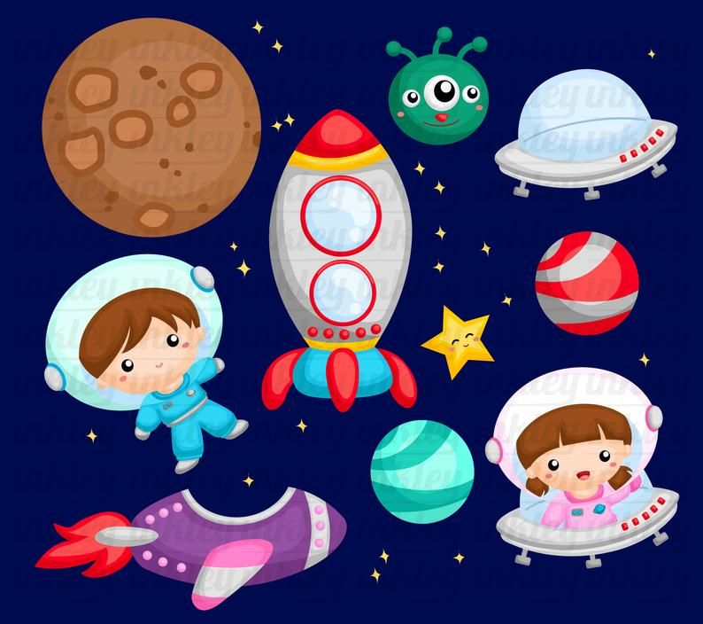 Galaxy And Space Clipart Space And Exploration Clip Art Planet