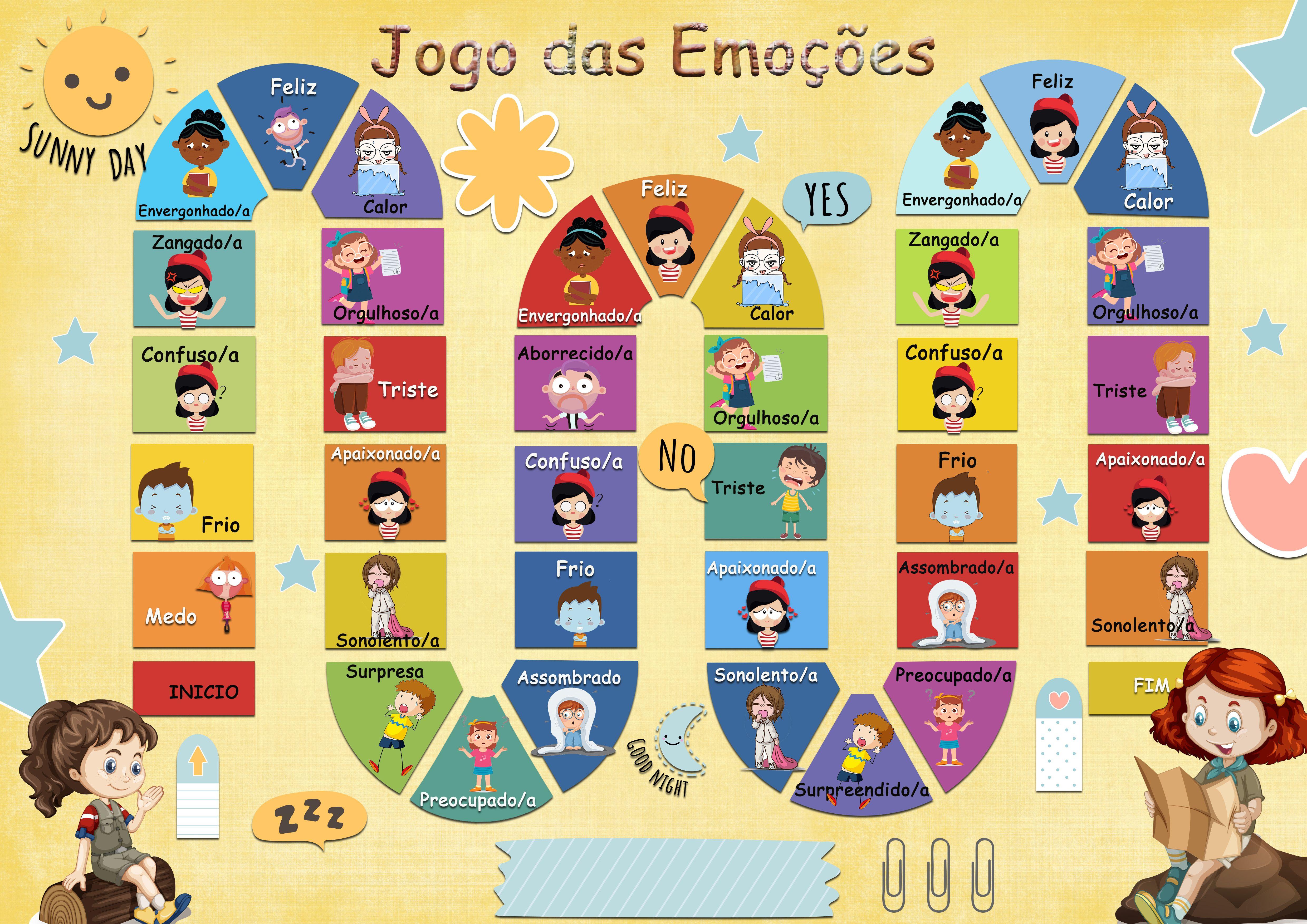 Jogo Das Emocoes Jogos De Tabuleiro Emocoes Yoga Para Criancas