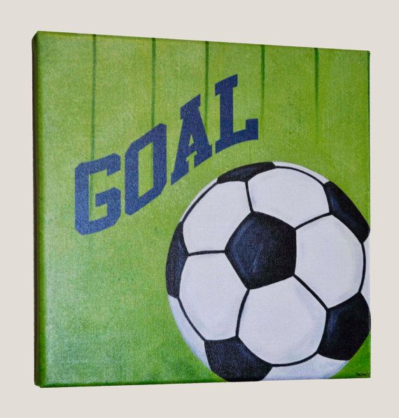Soccer Wall Art, Print, Sports Canvas Wall Art On Etsy, $20.00