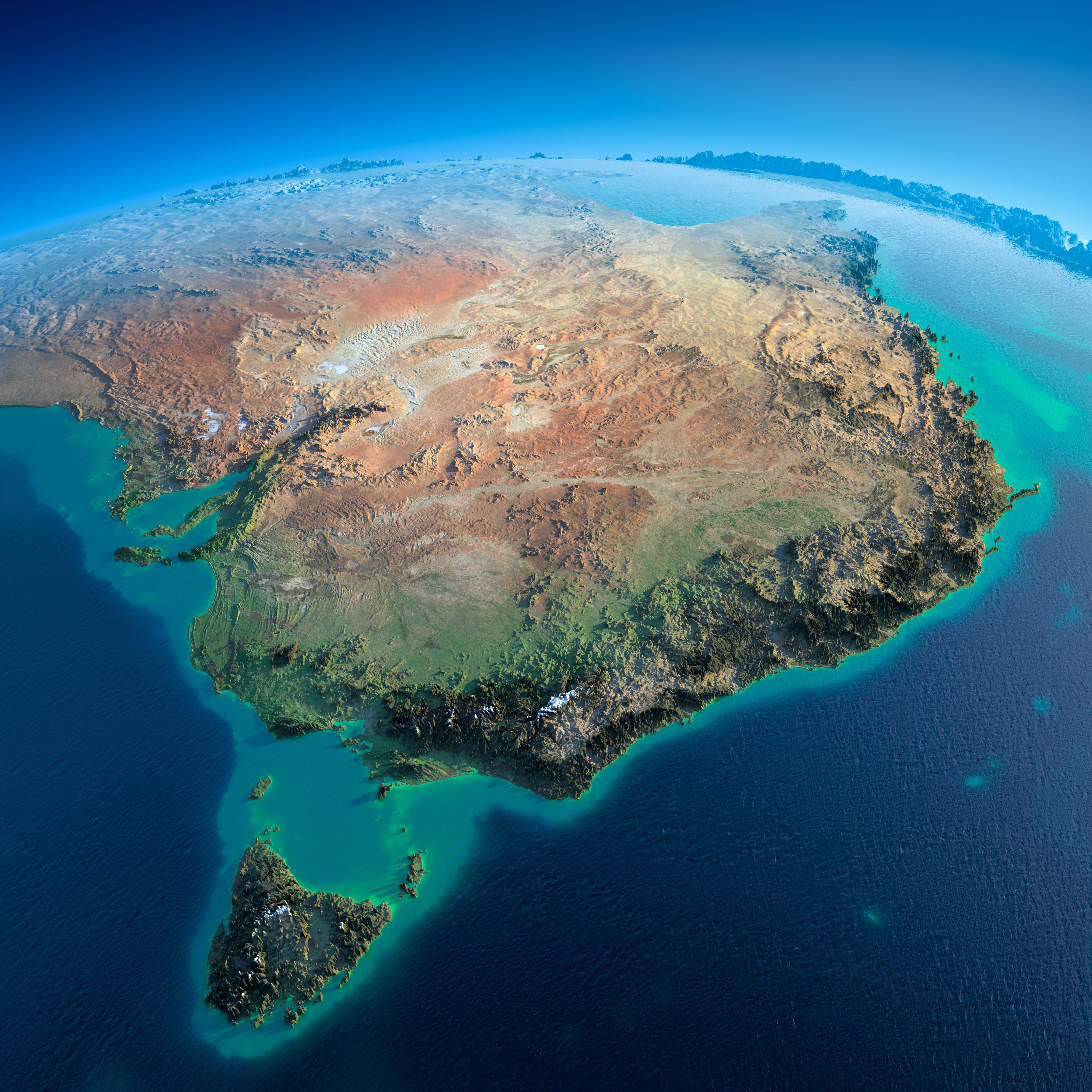 Australia Map Mountains.Fascinating Relief Maps Show The World S Mountain Ranges Maps