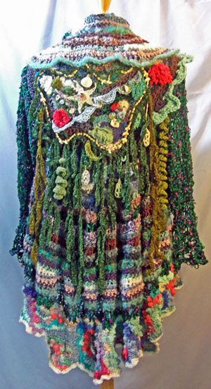 Wow.  I'm not sure I'd wear it, but it is impressive.  http://www.freeformcrochet.com/2011/Pages/barbara%20wh.html