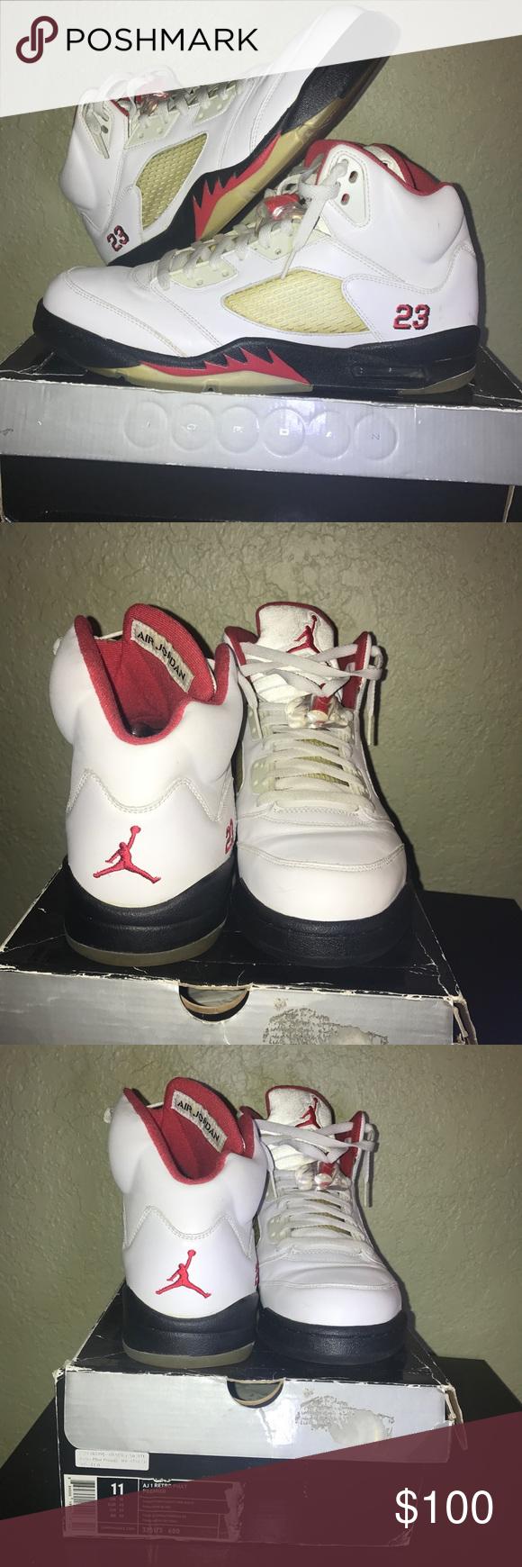 OG retros fire Red 5s | Red fire, Jordans for men