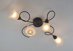 Plafoniere Per Cucina Rustica : Plafoniera lampadario classico rustico country cucina camera