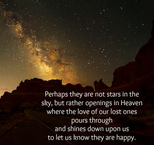 Perhaps They Are Are Not Stars In The Sky But Rather Openings In
