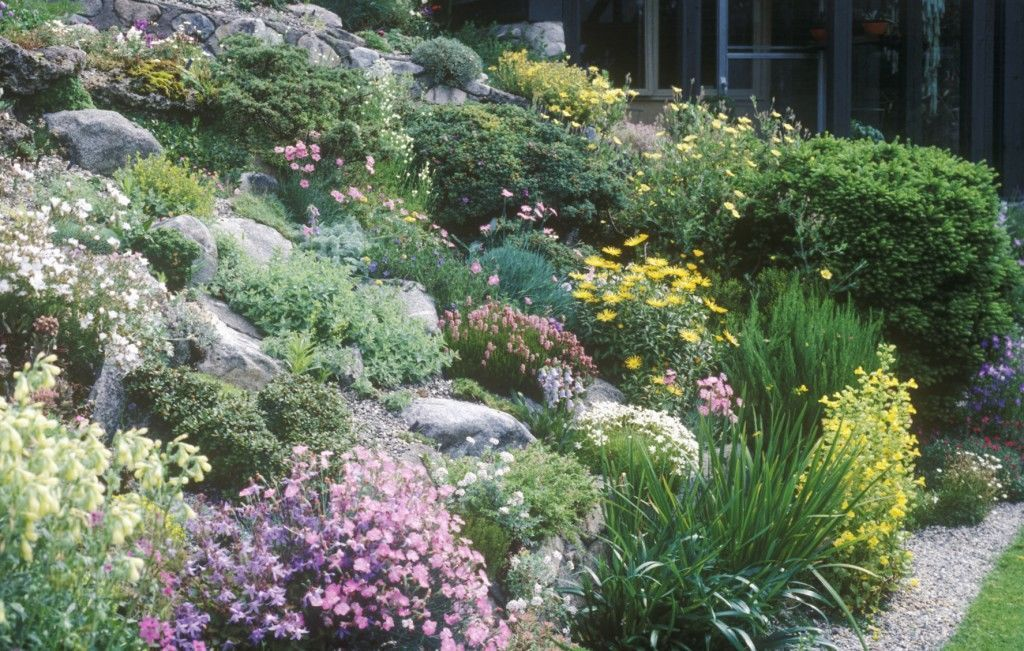 how to create a rock garden landscaping with rocks on beautiful front yard rock n flowers garden landscaping ideas how to create it id=43339