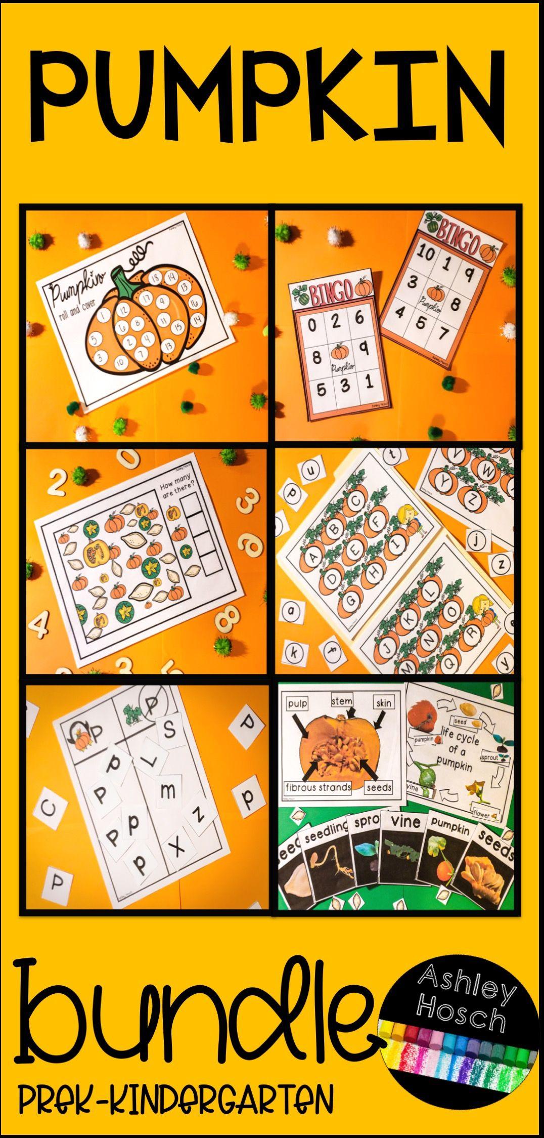 Pumpkin Unit For Preschool Prek Kindergarten And