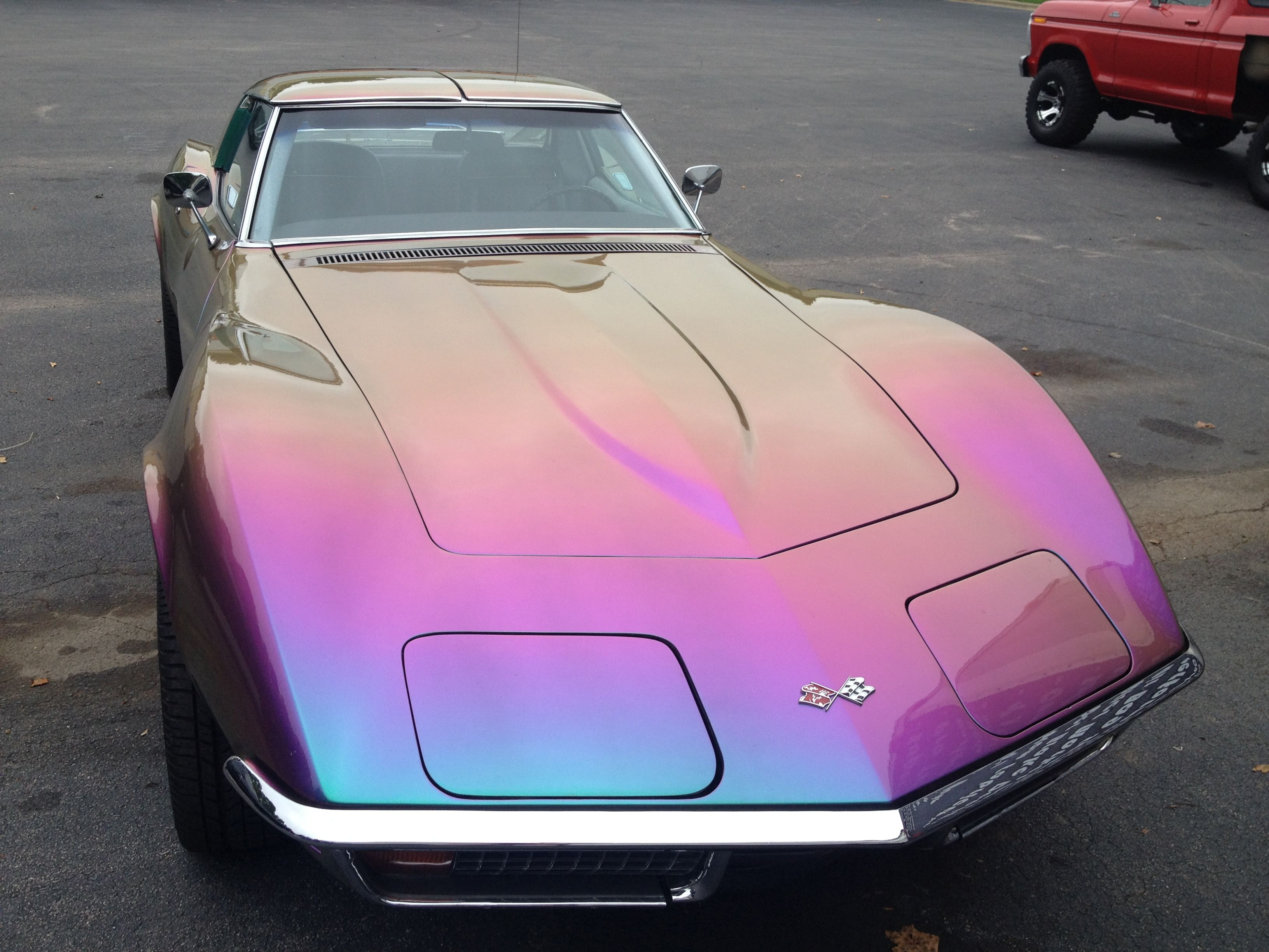 Corvette Restorations And Custom Painting Here At Quarter Mile Muscle Inc We Offer High Quality Automotive Resto Pink Car Corvette Restoration Car Paint Jobs