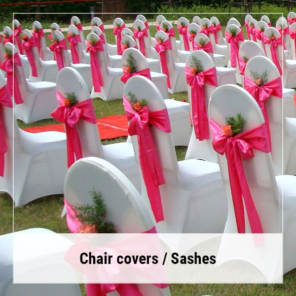 Fuschia Satin Sash A Touch Of Class In 2020 Cheap Chair Covers Wedding Chair Decorations Wedding Chairs