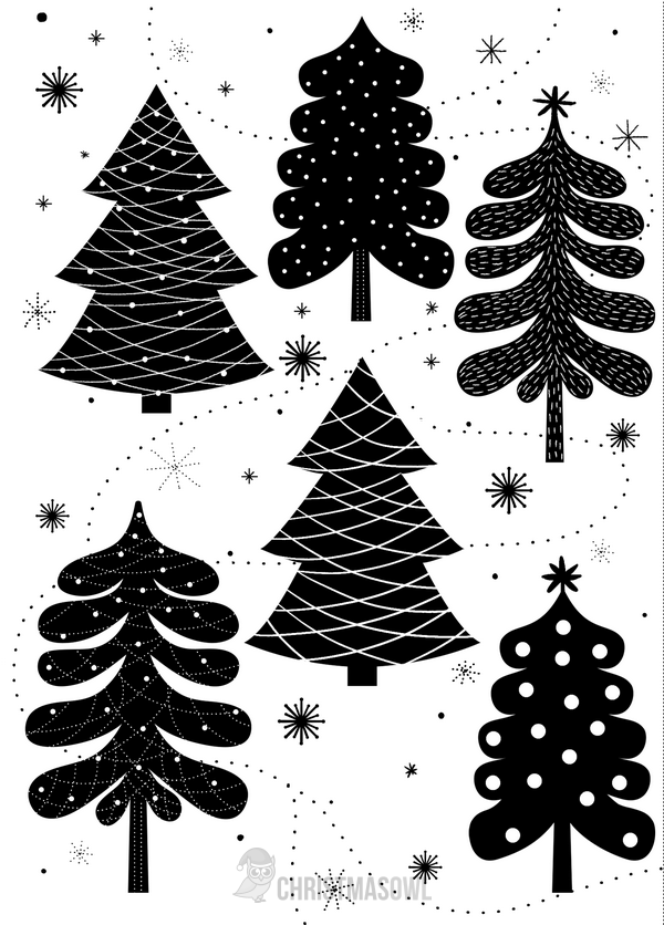 photo relating to Printable Christmas Cards Black and White called Pin as a result of Muse Printables upon Xmas Printables at