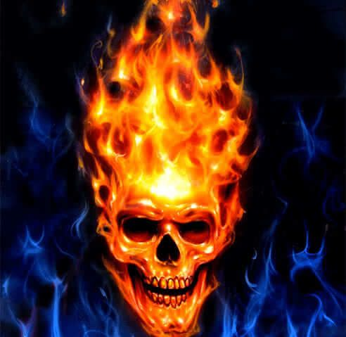 Calavera En Llamas Skull Pictures Airbrush Skull Skull Art
