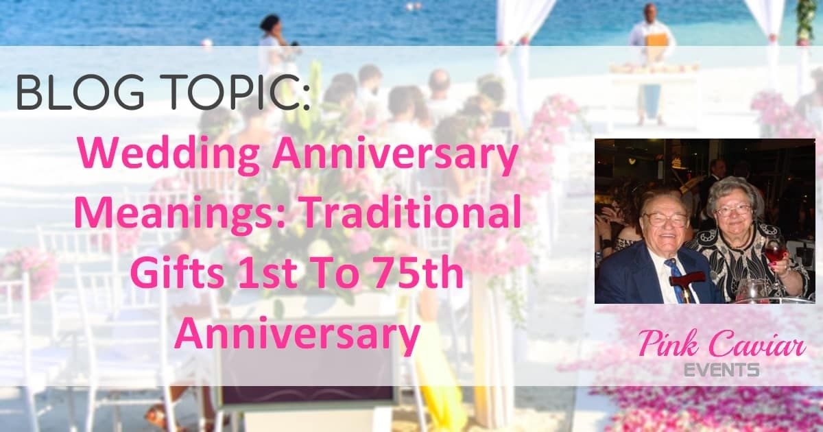 Wedding anniversary meanings traditional gifts st to th