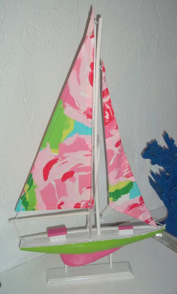 22 Quot Sailboat Accented With Lilly Pulitzer Hotty Pink First