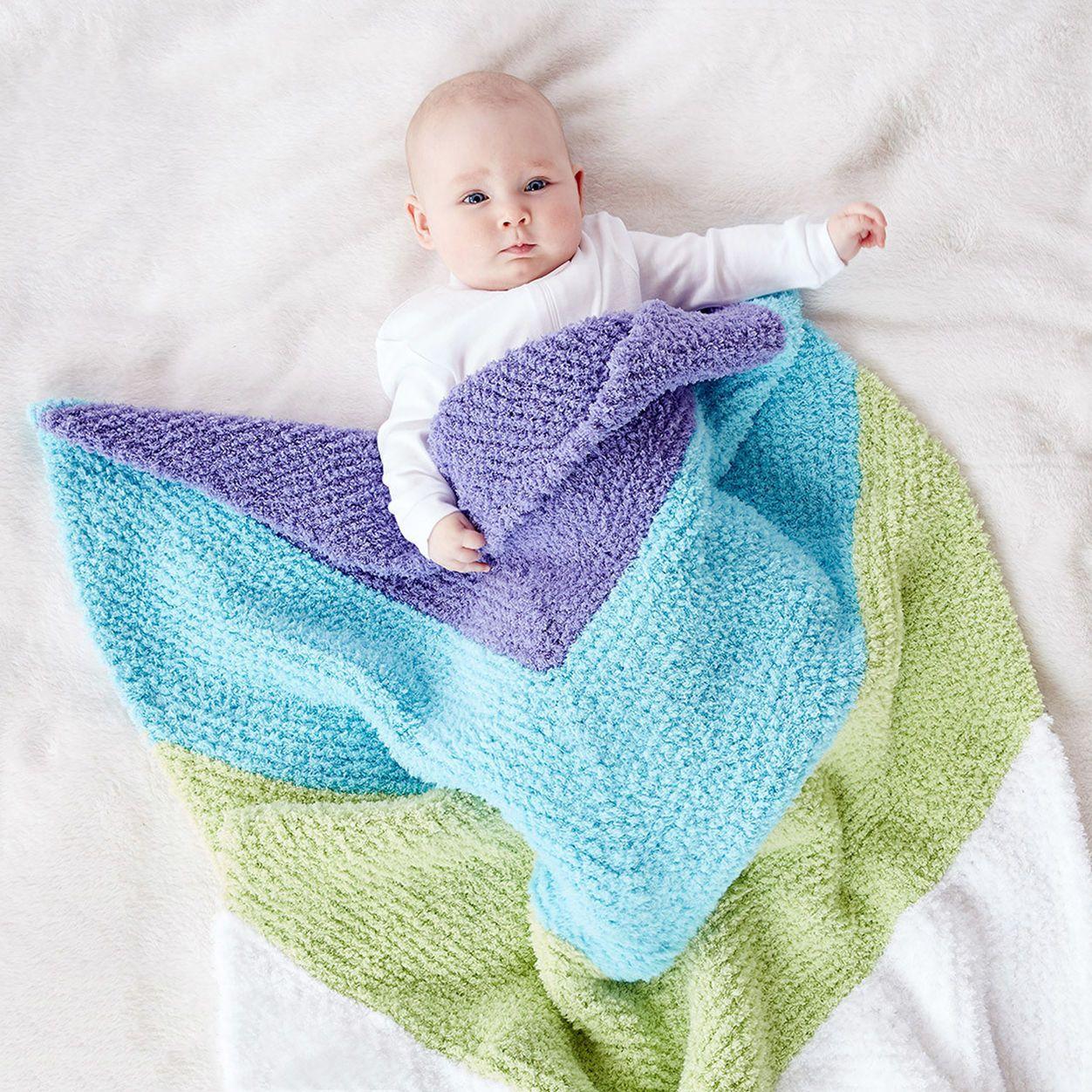 Bernat Baby Chevron Knit Blanket | Knitted baby blankets ...