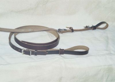 Handmade Vintage  Leather F Style Mandolin Strap by Cornhusker Guitar Straps - Free Shipping in U.S.