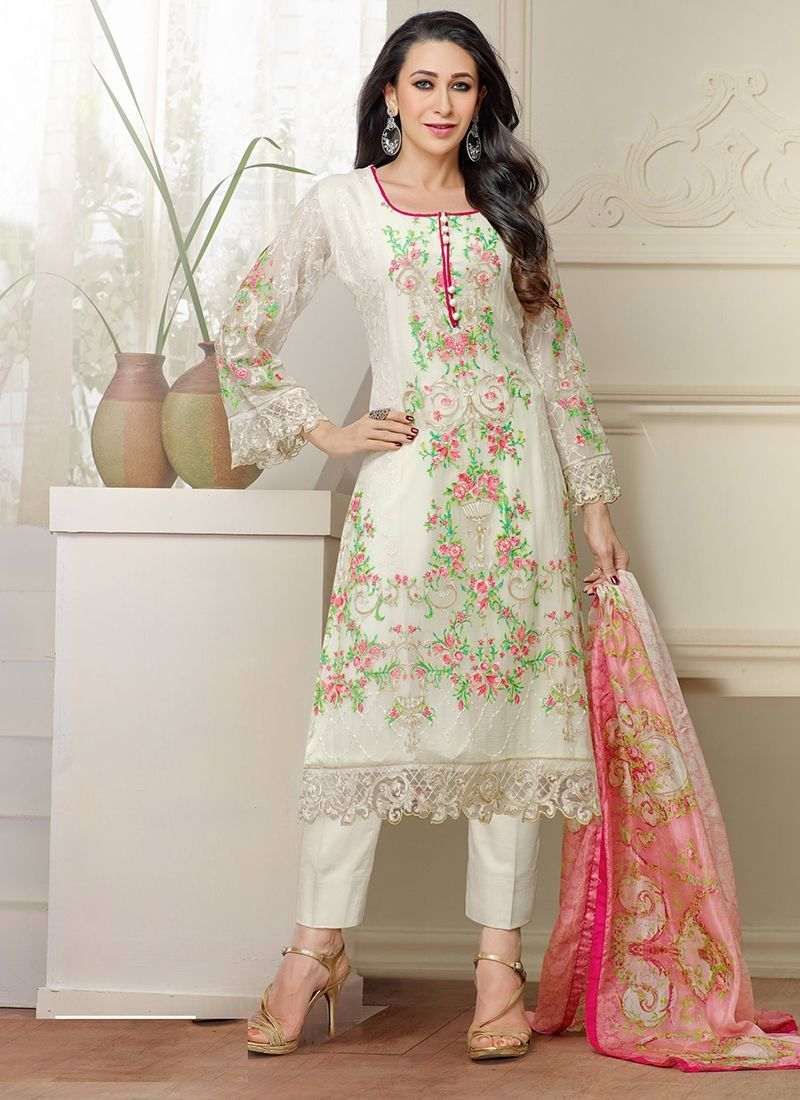 70c9488c75b Straight Party Wear Georgette Salwar Straight Suit with Cigrrate Style Paint