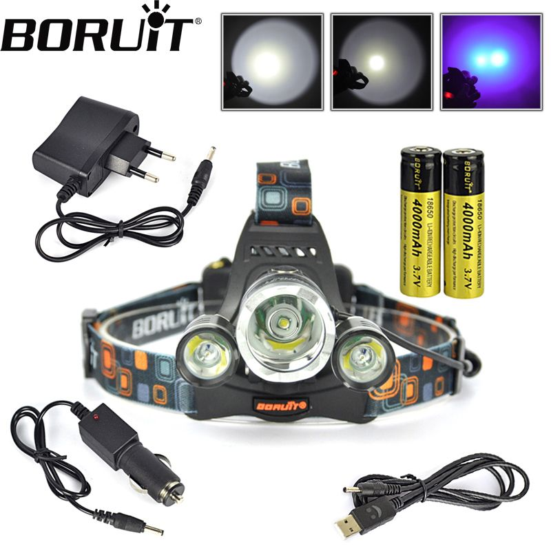 6000LM Bicycle Front Light T6 LED Headlamp 4000mAh USB Rechargeable Headlight