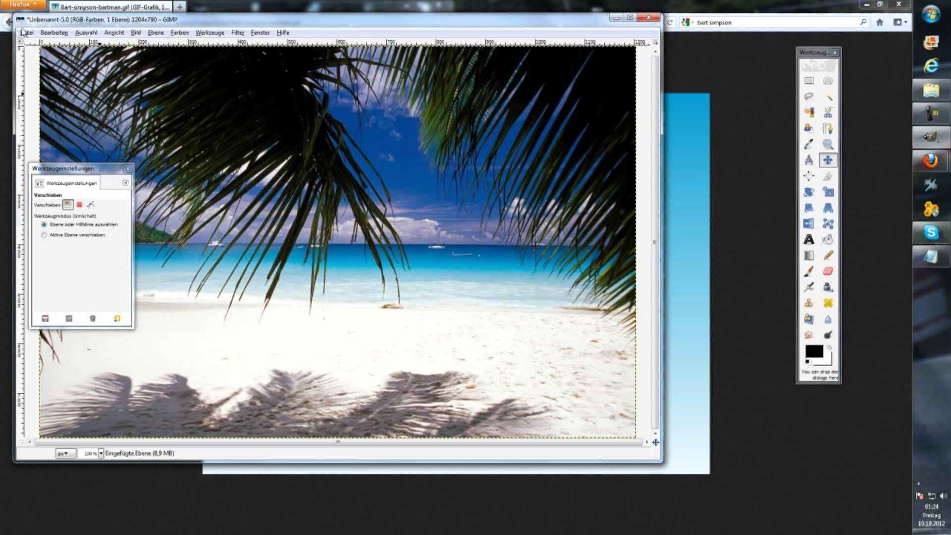 GIMP für Anfänger ! Hintergrund eines Bildes ändern