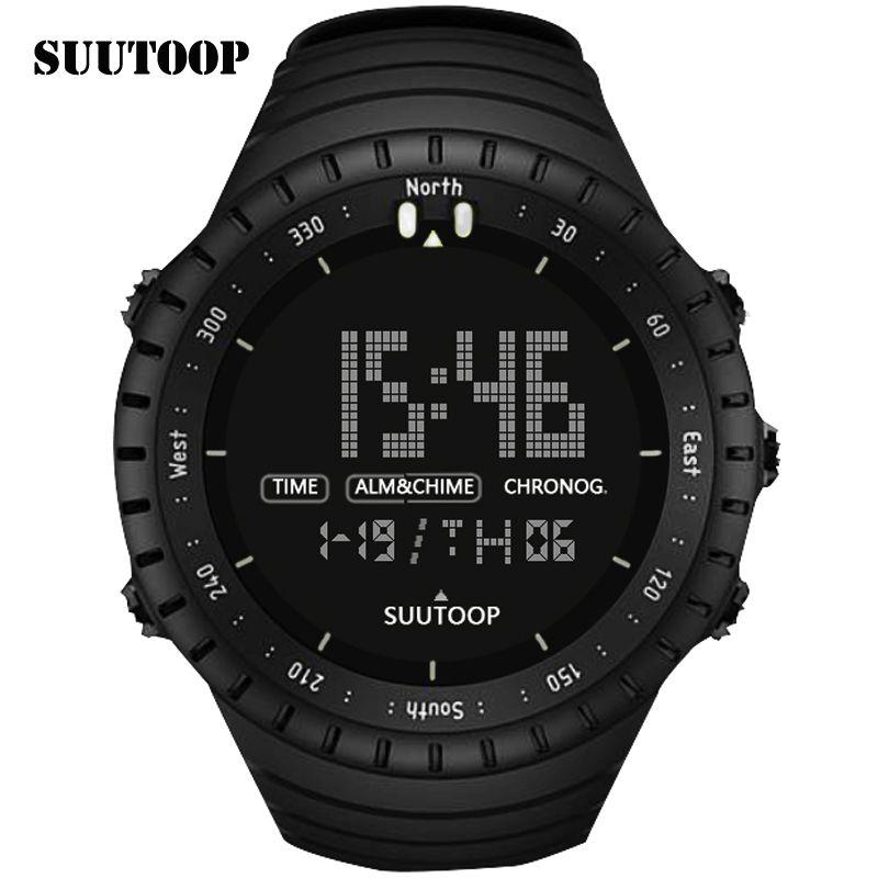 c17dce234384 Barato SUUTOOP Rotating dial Top de Luxo Da Marca Esporte Relógio Digital À  Prova D