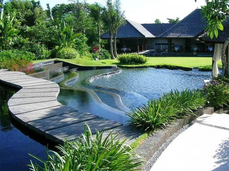 Desain Taman Minimalis Dengan Kolam Ikan Rumah Mewah Kolam Ikan Arsitektur Lanskap Kolam