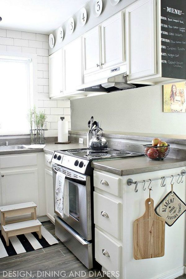 7 budget ways to make your rental kitchen look expensive apartment kitchen budgeting and - Small kitchen design pinterest ...