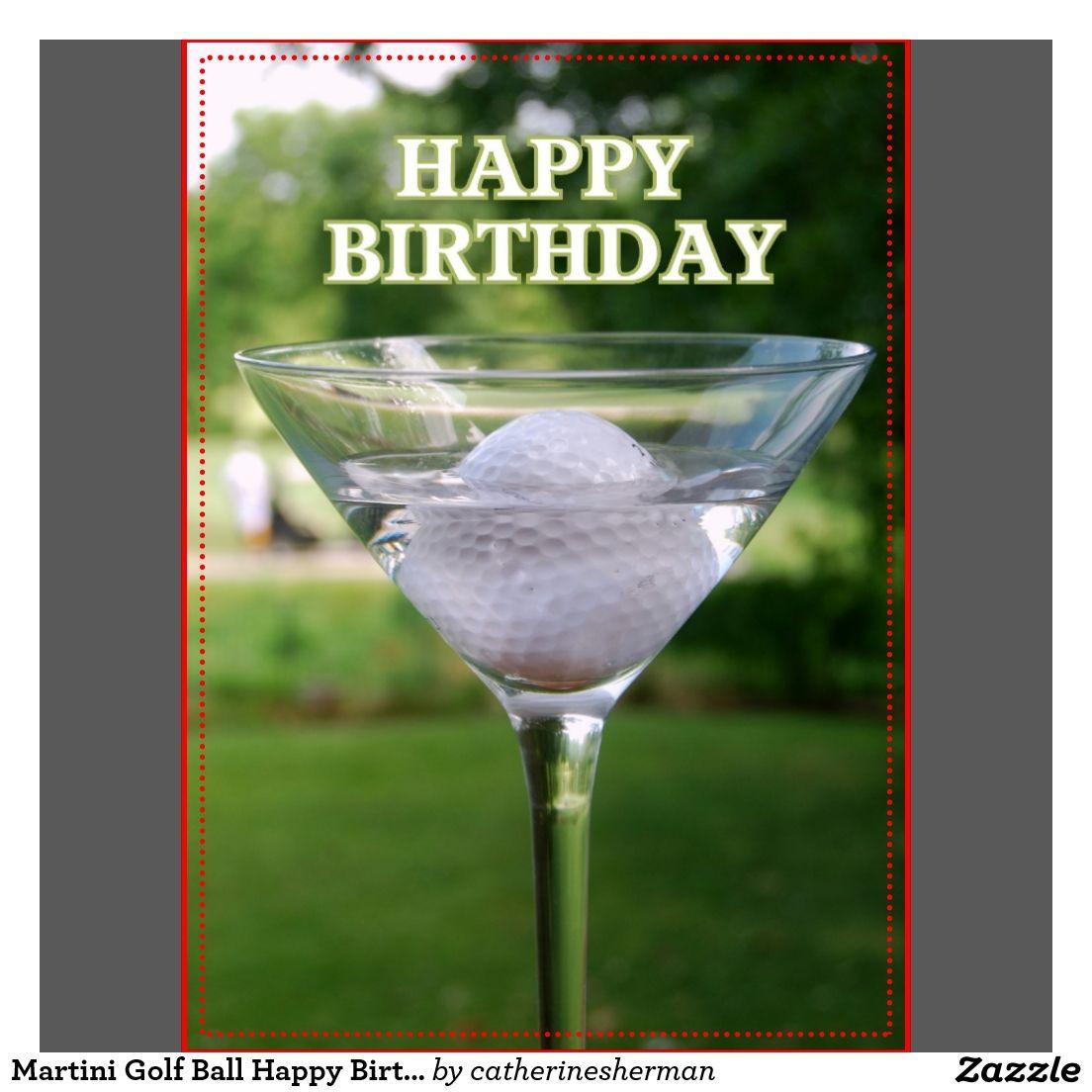 Birthday Cake Golfer Martini